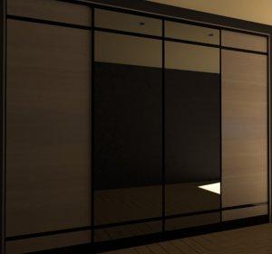 3D closet render