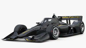 3D dallara dw12 aeroscreen oval