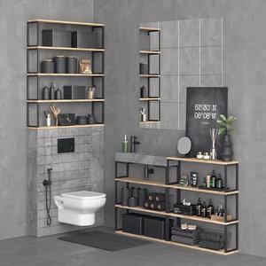 set toilet 3D