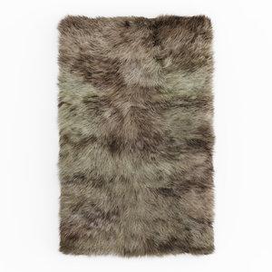 3D carpet fur shaggy camel