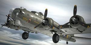 3D boeing b-17