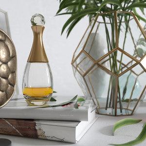 palm vase decor 3D model