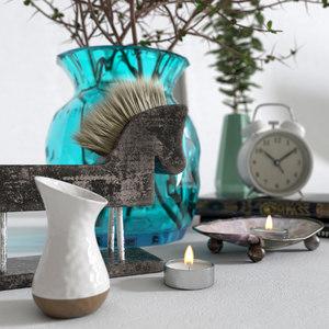 vase decor branch 3D model