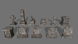 tombstone stone tomb model