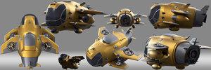 cartoon aircraft 3D model