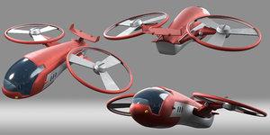 3D model cartoon aircraft