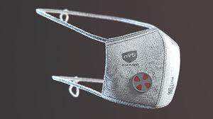 reusable cloth mask 3D model