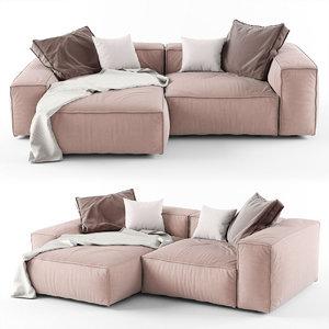 3D modern corner sofa