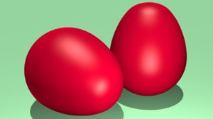 red easter egg 3D