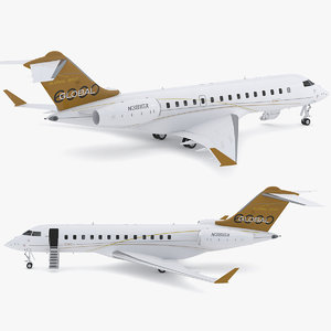 3D model bombardier global 6000
