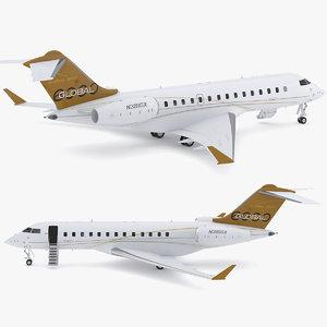 3D model bombardier global 6000
