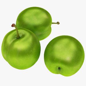 3D plum green