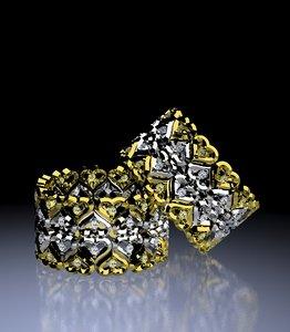 3D model eternity heart ring
