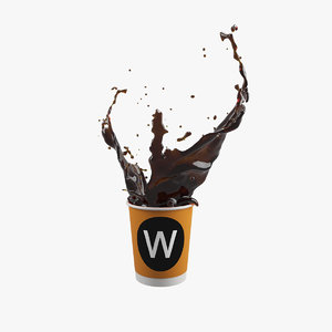 coffee splash v2 3D model