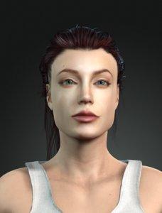 3D character design angelina jolie