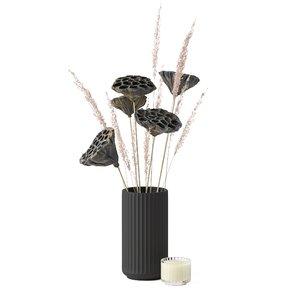 decor bouquet vase 3D