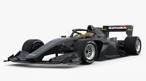 3D dallara sf19 super formula model