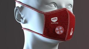 3D reusable cloth mask filter model