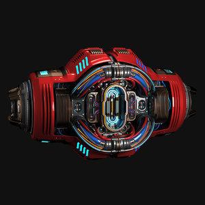 sci fi core c1 3D model