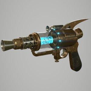 3D retro style gun