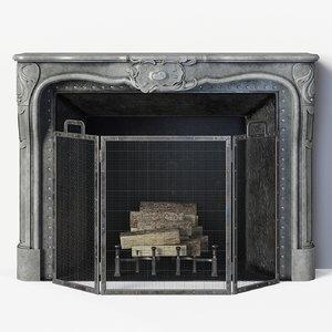 regency style stone 3D model