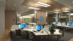 3D commercial office interior