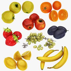 3D realistic fruit 8 1