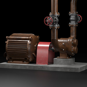 3D gear pump real looking model