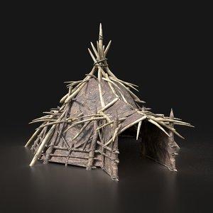 3D aaa fantasy orcish camp