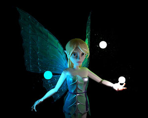 fairy animation games 3D model