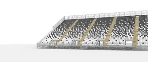3D model tribune stadium