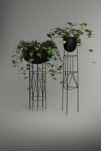 3D modern plant stands model