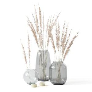 decor candle candlestick 3D model