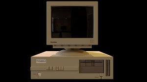 3D model vintage pc crt monitor