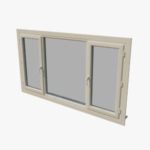 3D pvc window