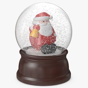 3D snow globe santa claus model