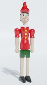 3D puppet pinocchio model