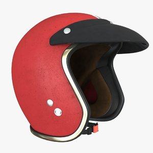 3D vintage helmet realistic