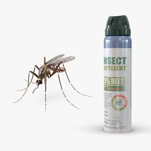 3D model repellent bottle mosquito