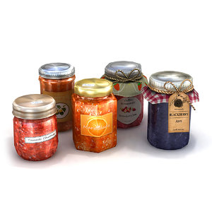 fruit preserves 3D model