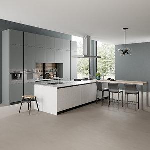 3D model realistic kitchen