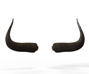 3D horns bull