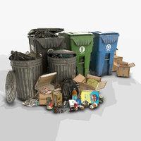 Urban Trash Pack Vol 2 - Low Poly