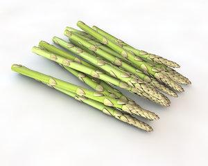 3D asparagus
