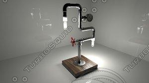 vintage steampunk lamp 3D