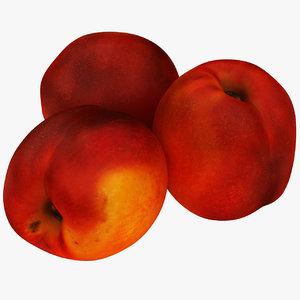 3D realistic peachs model