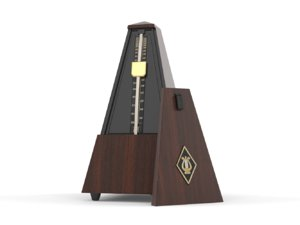 donner maroon mechanical metronome 3D model