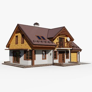 gameready house 6 cottage 3D model
