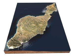 3D santa catalina island california model