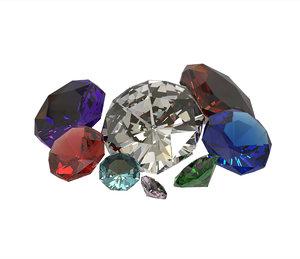 diamond gemstones model